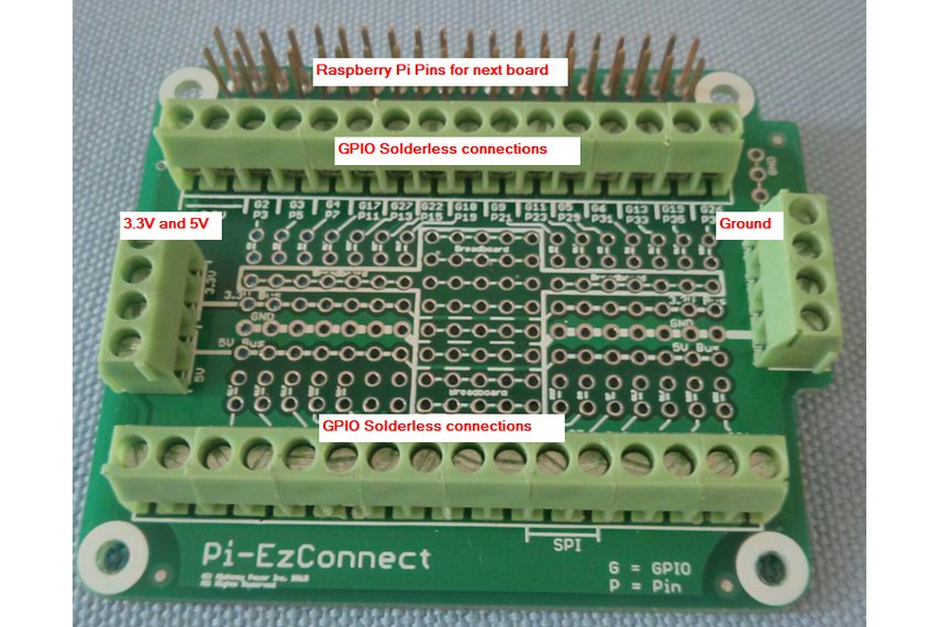 Pi-EzConnect - easy to connect Raspberry  PI GPIO