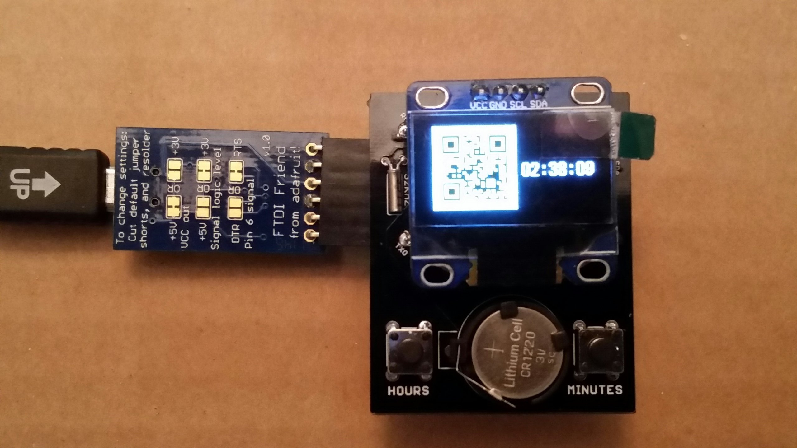 Oled clock shield kit for promini from florinc on tindie