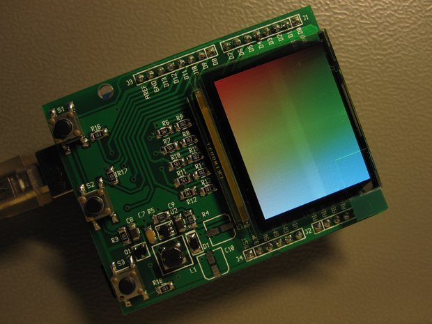 Arduino color oled shield from avian on tindie