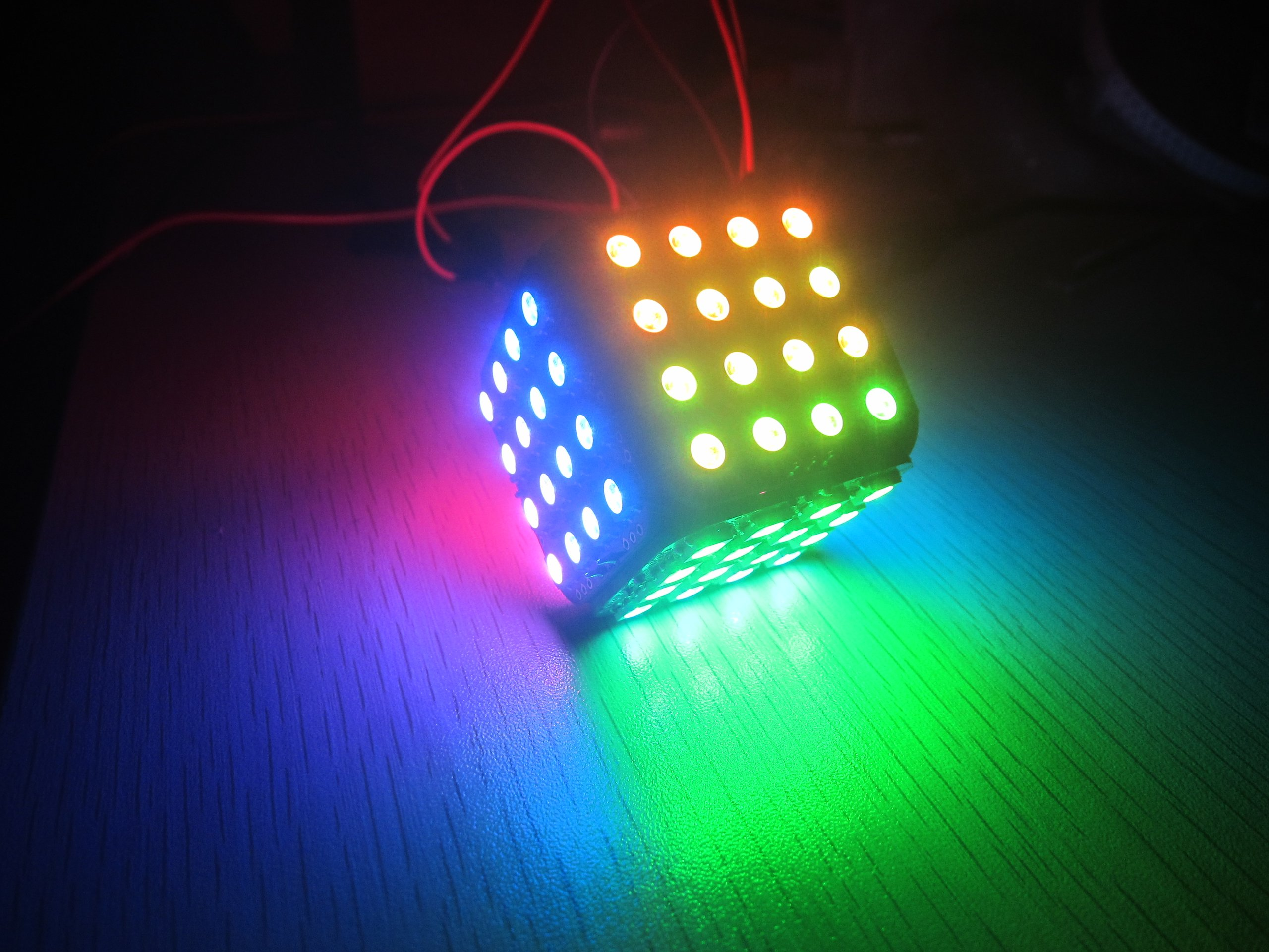 Ws b led cube for arduino colorful magic from