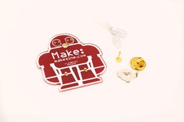 5pcs DIY makezine badge kit learn to solder