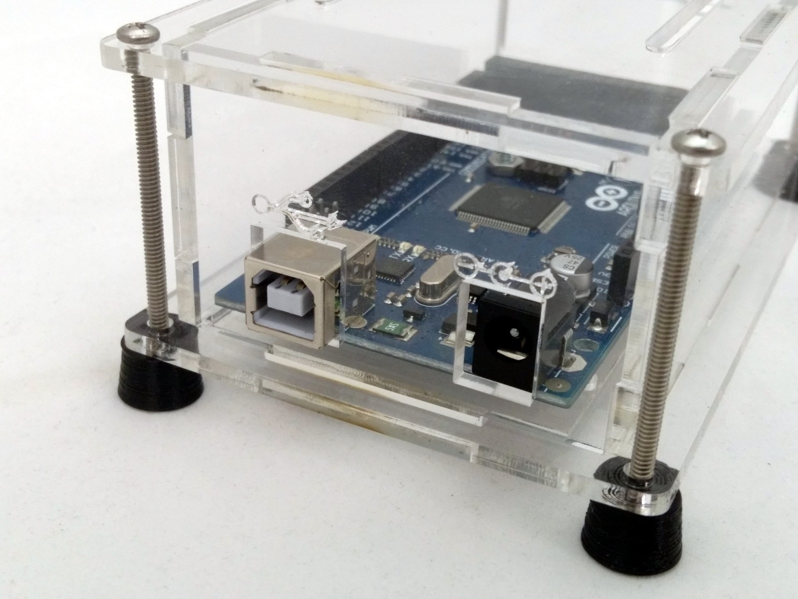 Acrylic enclosure kit for arduino mega from mjrice on tindie