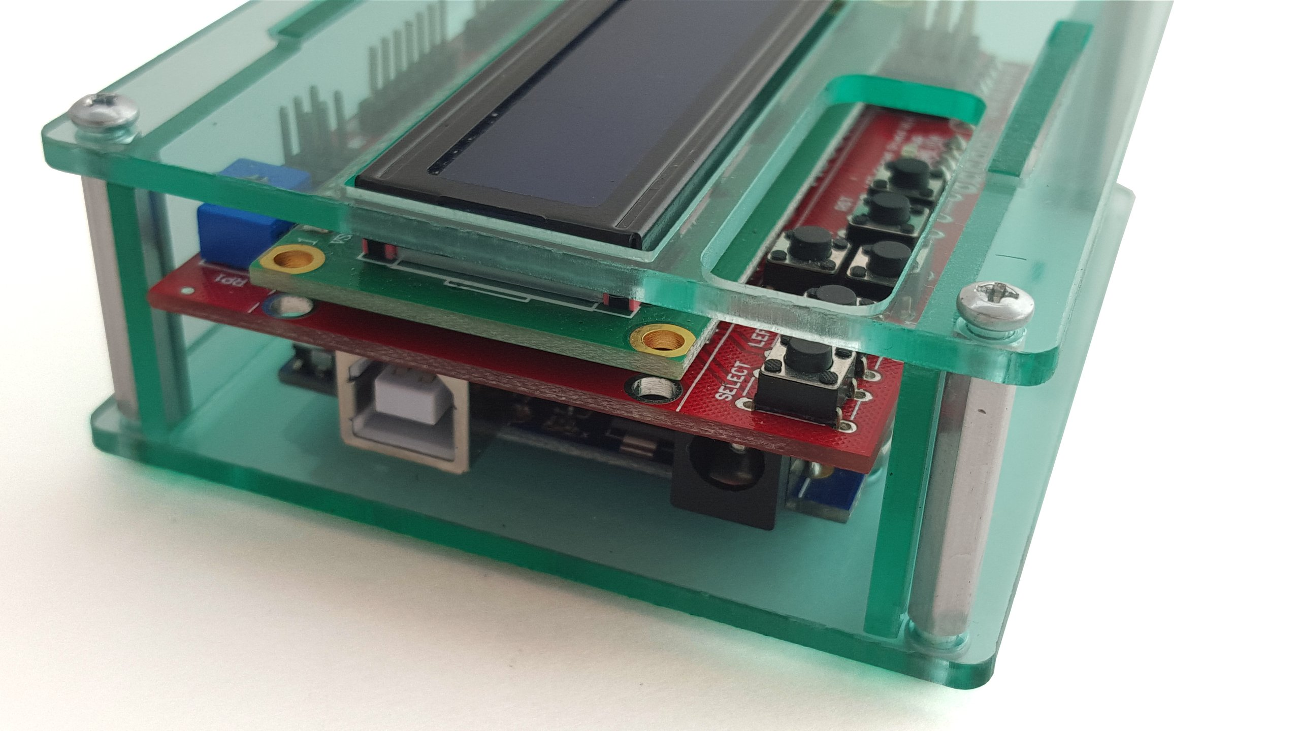 Acrylic enclosure for arduino uno and lcd from mjrice
