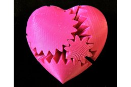 Rotating Heart Gear (3D Printed)