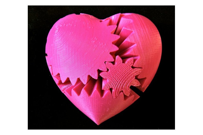 Rotating Heart Gear (3D Printed)