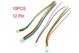 10PCS 12P Single Head Connector Cable 100mm(11922)