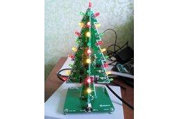 RGB Flashing LED Christmas Tree Circuit Kit(7212)