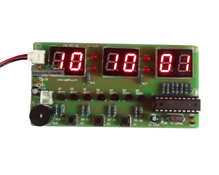 C51 Electronic Clock Suite Diy Kits 2042 From Icstation