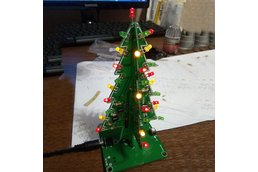 RGB Flashing LED Christmas Tree Circuit Kit(7212)