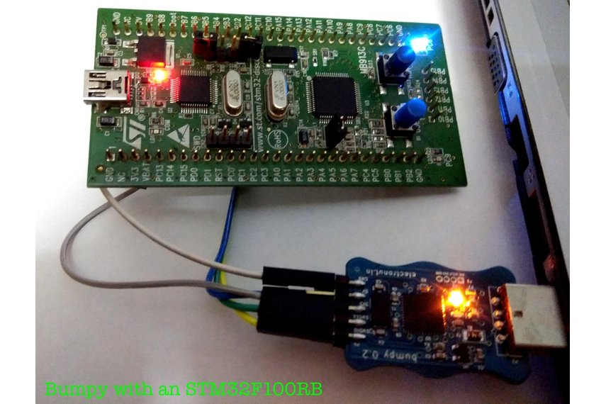 Bumpy blackmagic probe compatible SWD debugger