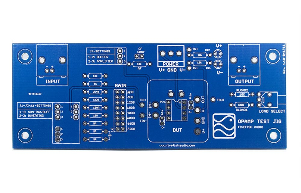 Electronics Test Jig : Opamp test jig pcb for pdip discrete opamps from