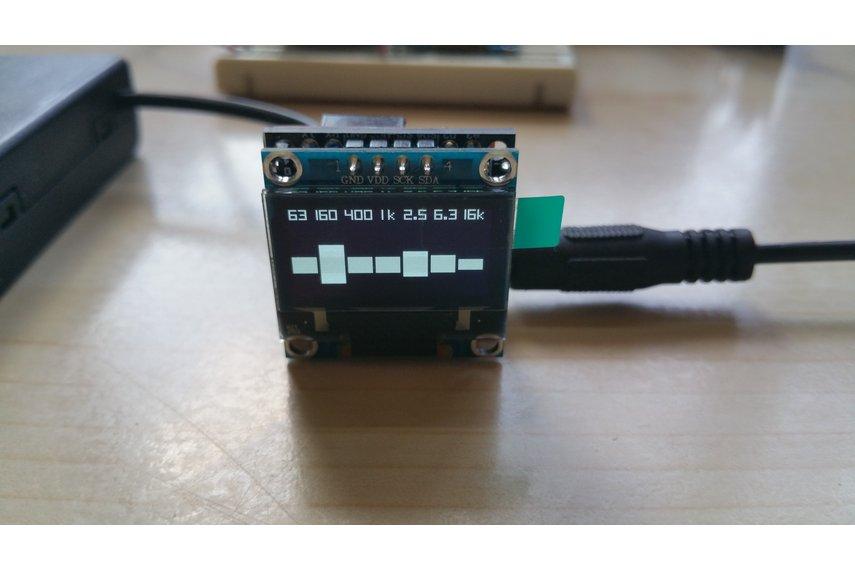 OLEDiUNO Spectrum Analyzer with 3 display modes
