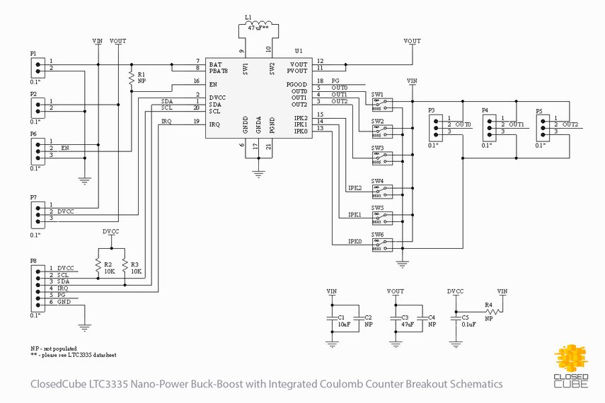 LTC3335 Nanopower Buck-Boost with Coulomb Counter