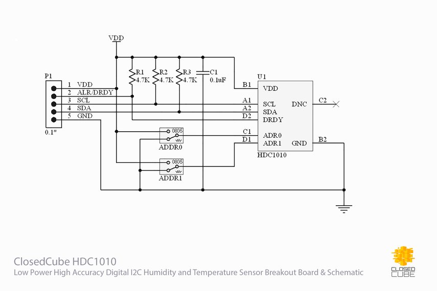 HDC1010 High Accuracy Humidity/Temperature Sensor