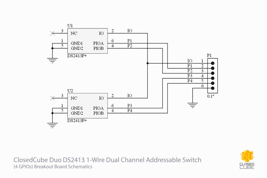Duo DS2413 1-Wire Dual Channel Addressable Switch