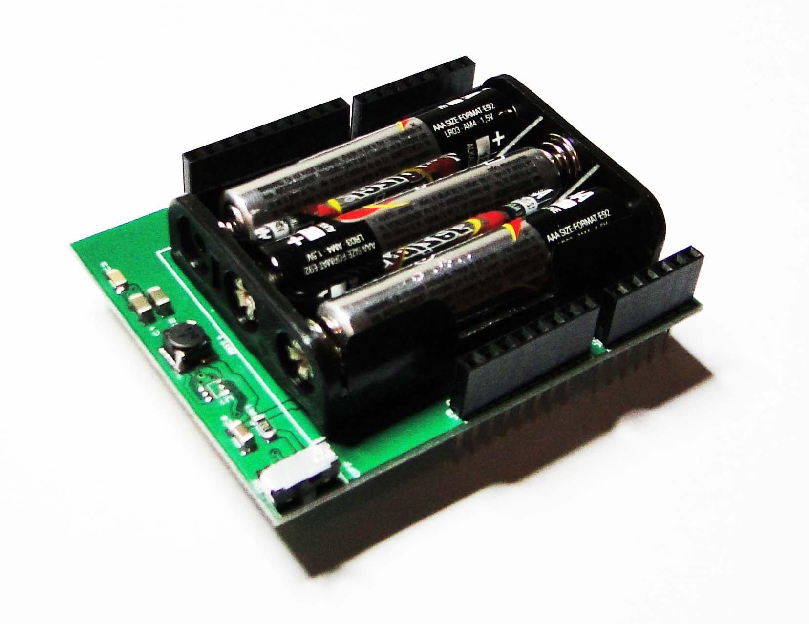 Batteryduino battery shield for arduino from masihvahida