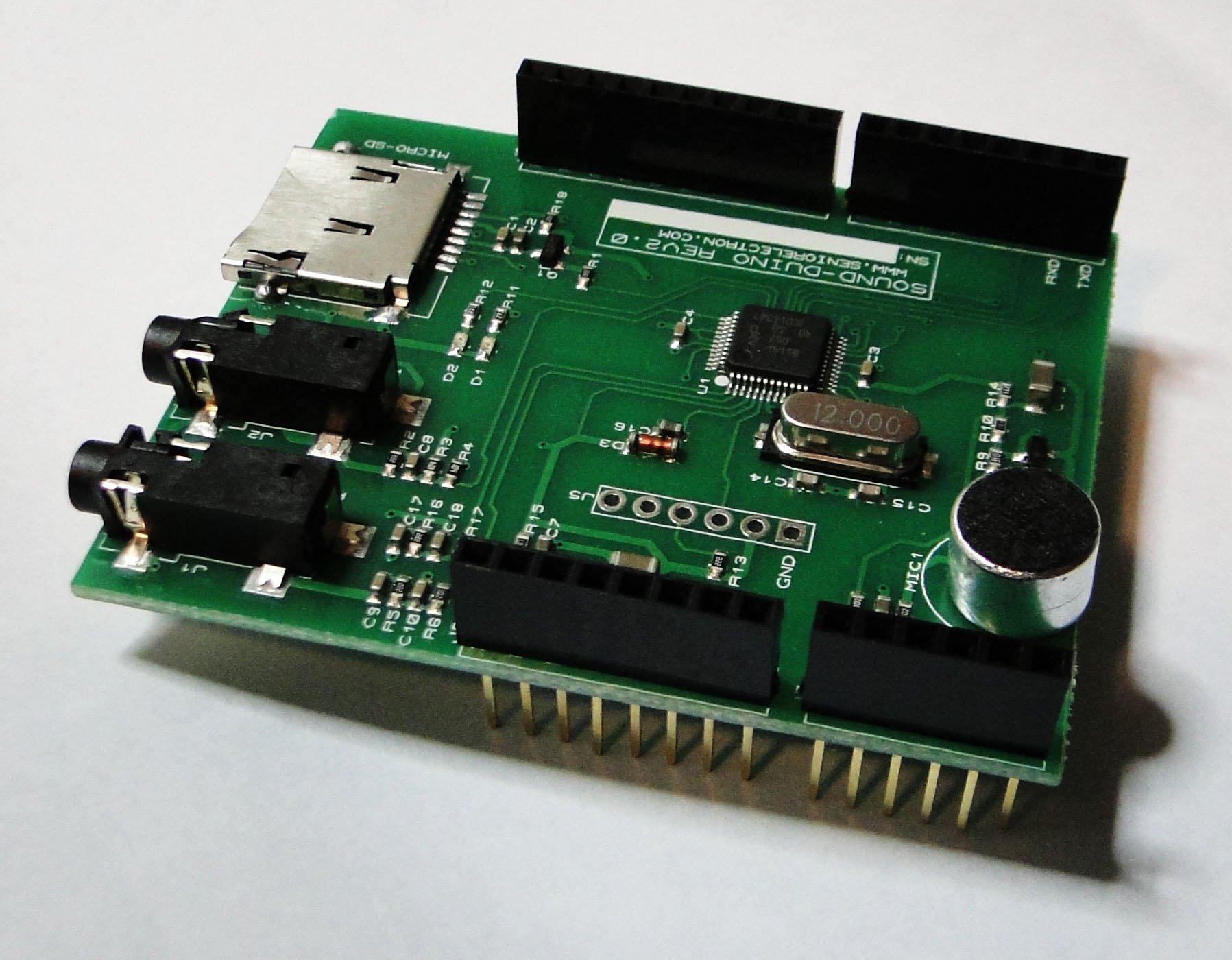Soundduino audio shield for arduino from masihvahida on