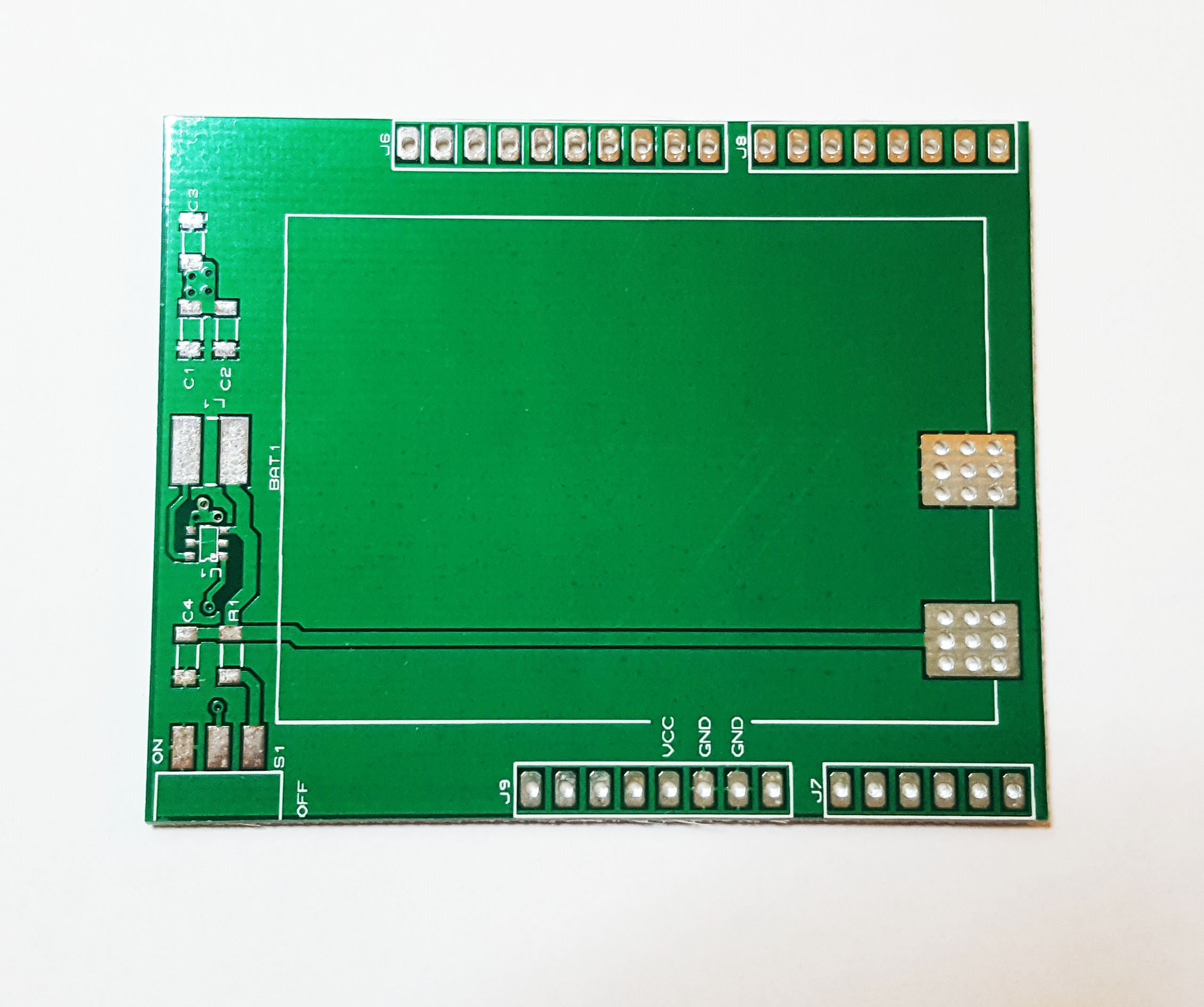 Battery shield bare board for arduino uno with bom from