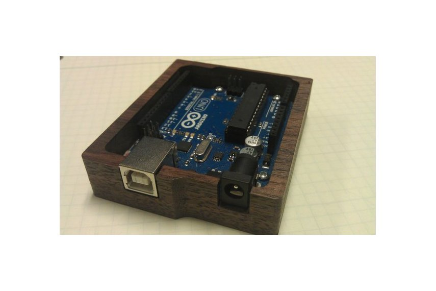 Wooden arduino tray from diyourfaceoff on tindie