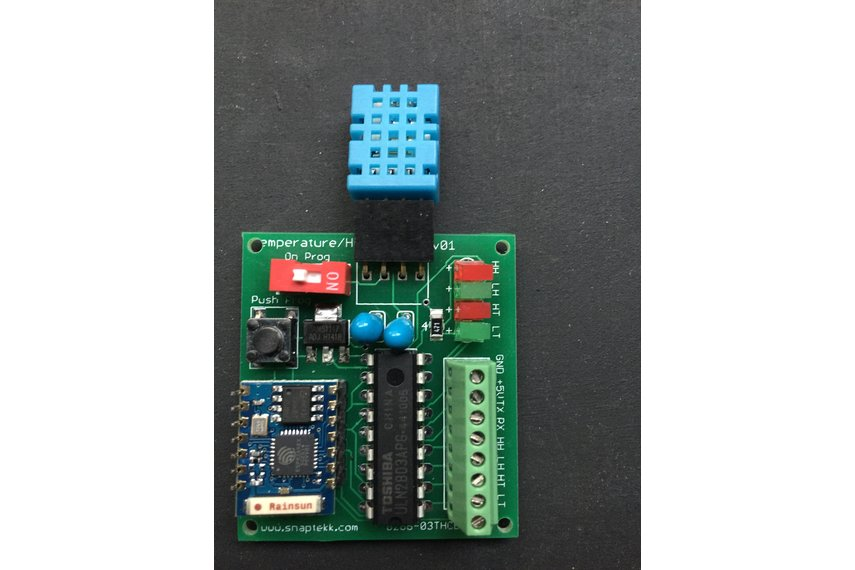 WIFI temperature and humidity sensor and control