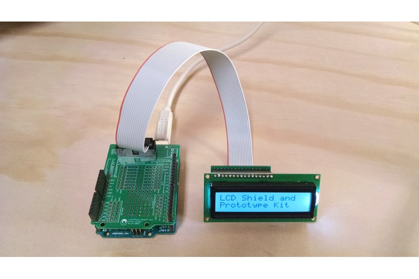 Arduino lcd breakout and prototype kit from cesser on tindie