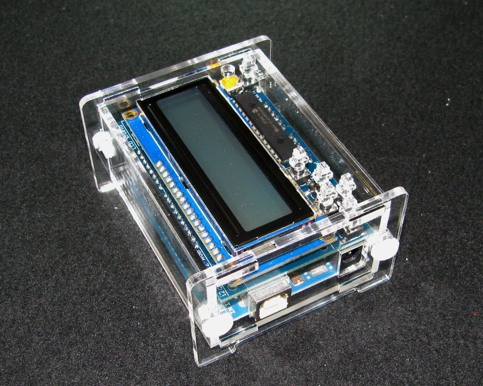Arduino adafruit lcd case from built to spec on tindie