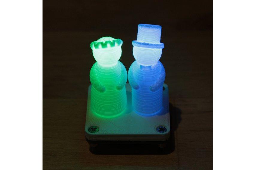 Wedding figurine with fading RGB LEDs