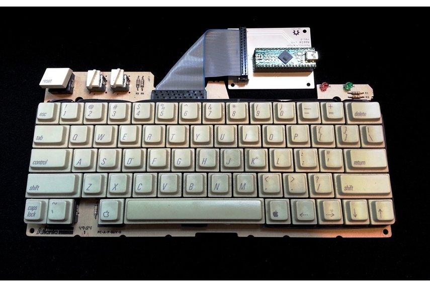 RetroConnector keyboard shield - Apple IIc or IIc+