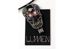 Intermediate Skull LED + Solar Power Soldering Kit