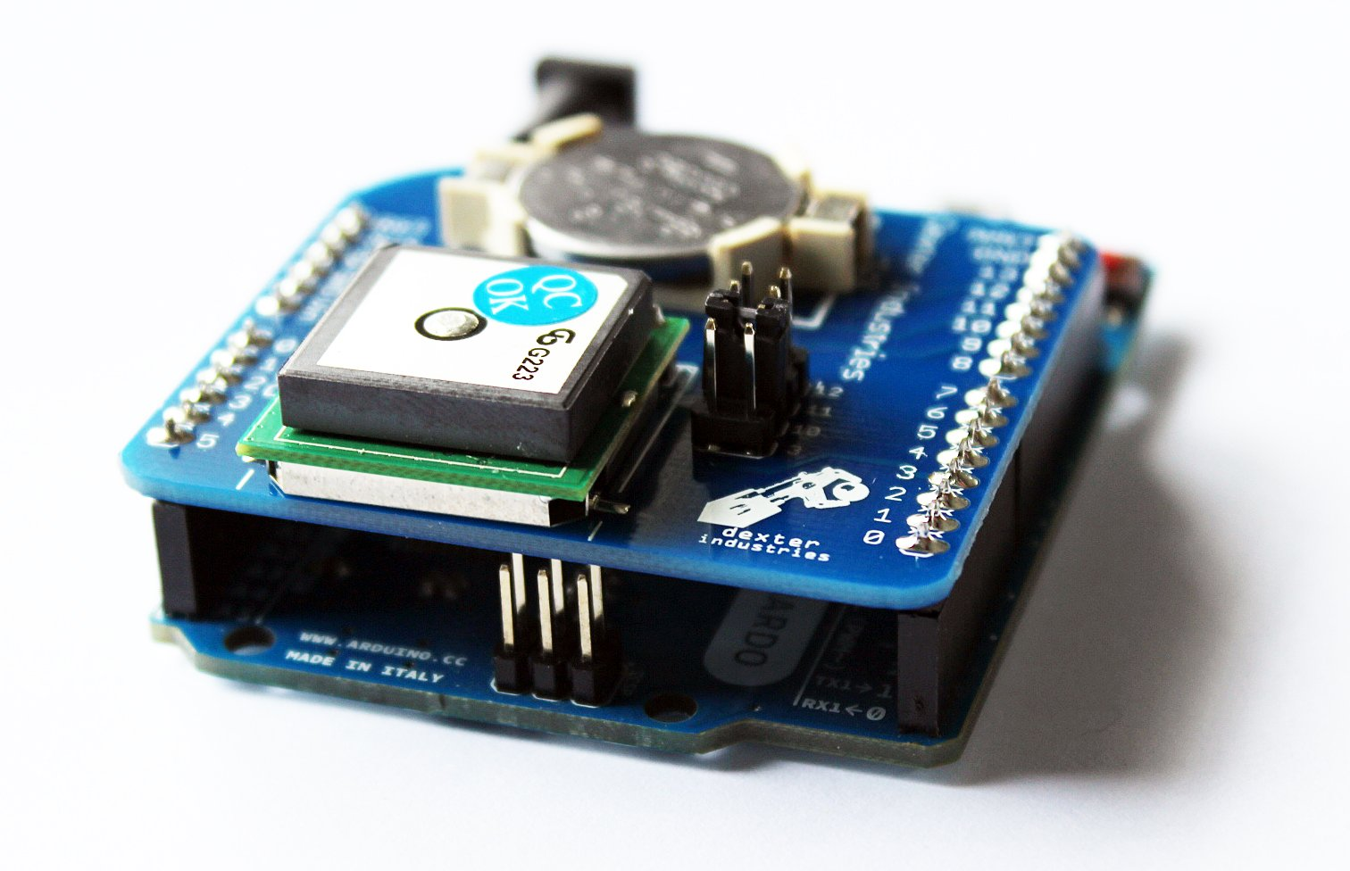 Arduino gps shield from dexterindustries on tindie