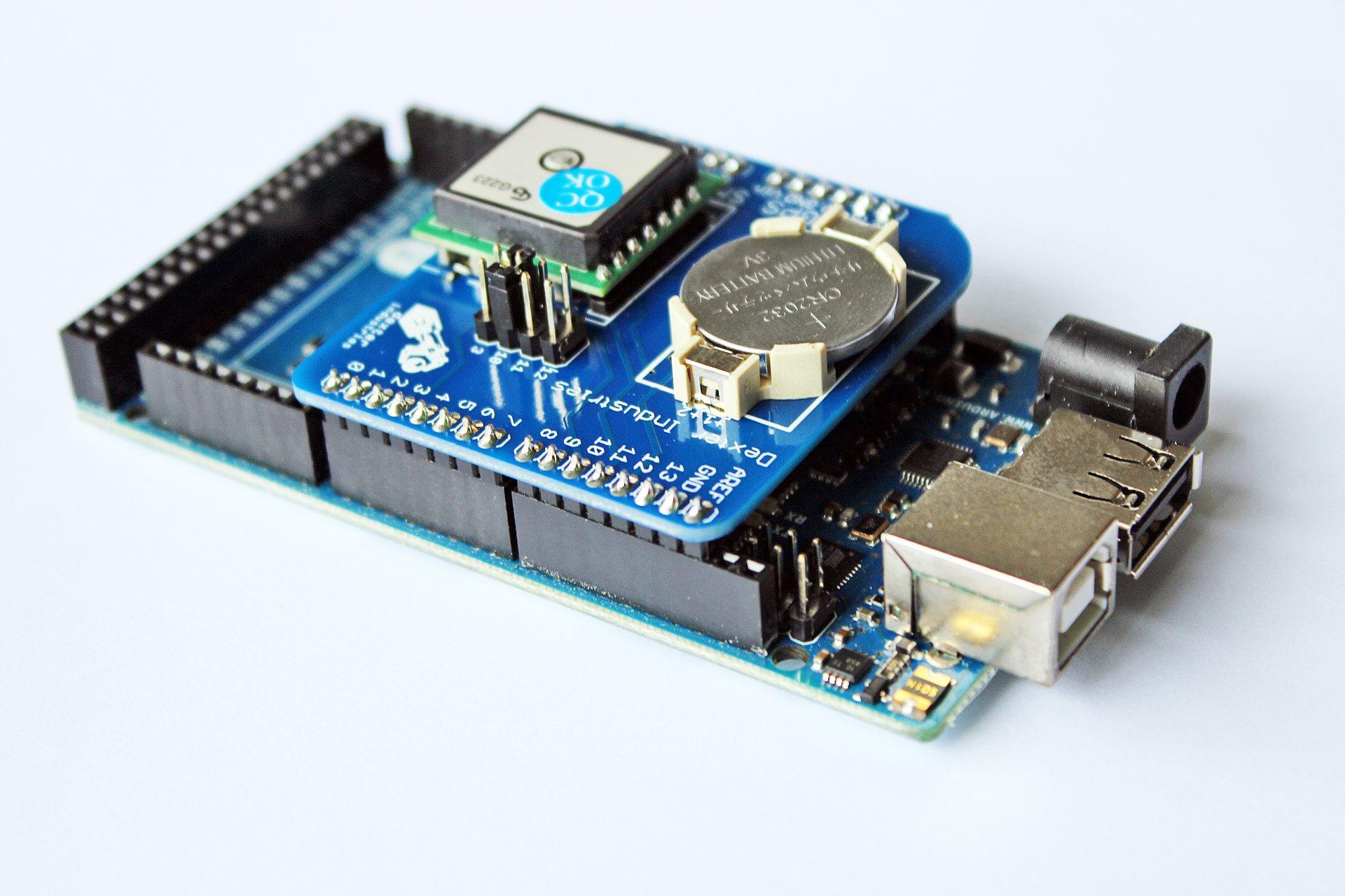 Arduino gps shield from dexterindustries on tindie