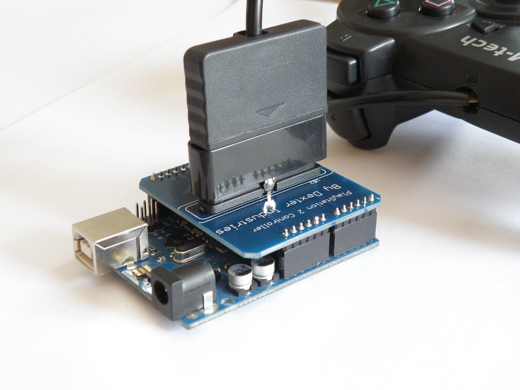 Arduino playstation dualshock shield from dexterindustries