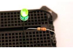 5mm Green LED with Diffused Lens + 330 Ohm Resistor