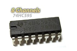 74HC595 Shift Register (For LED Arrays and GPIO Expansion)