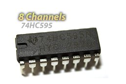 [5 pack] 74HC595 Shift Register (For LED Arrays and GPIO Expansion)