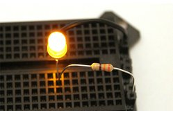 5mm Yellow LED with Diffused Lens + 330 Ohm Resistor