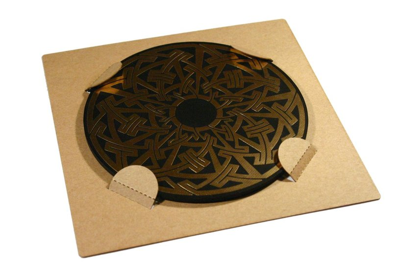 Celtic/Pictish circuit board drinks coasters