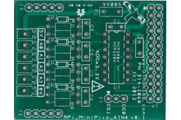 Raspberry PIIO - MiniPIIO AIN4 4ch Analogue Input add-on - PCB Only