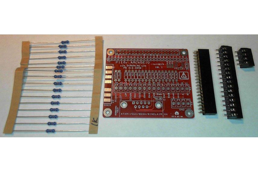 Raspberry PIIO - ArcadeIO add-on board (Kit only)