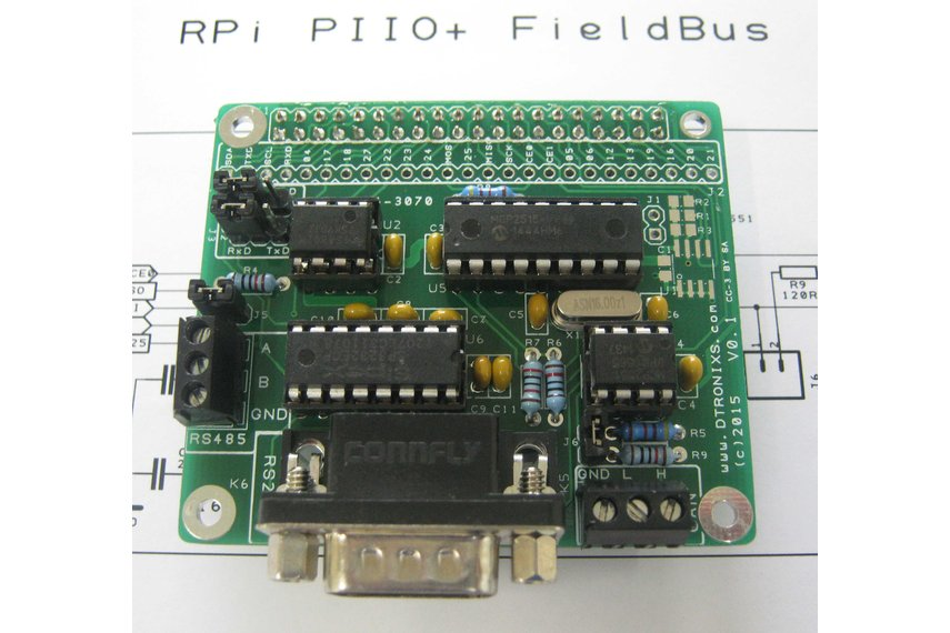 Raspberry PIIO - FieldBus CAN/RS232/RS485 board