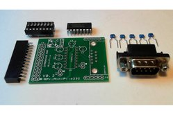 Raspberry PIIO - MiniPiio RS232 add-on board - Kit only