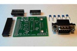 Raspberry PIIO - MiniPiio RS232 board (Kit)