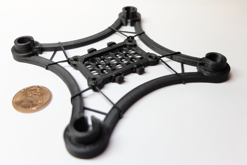 freeuav 3d printed carbon fiber quadcopter frame