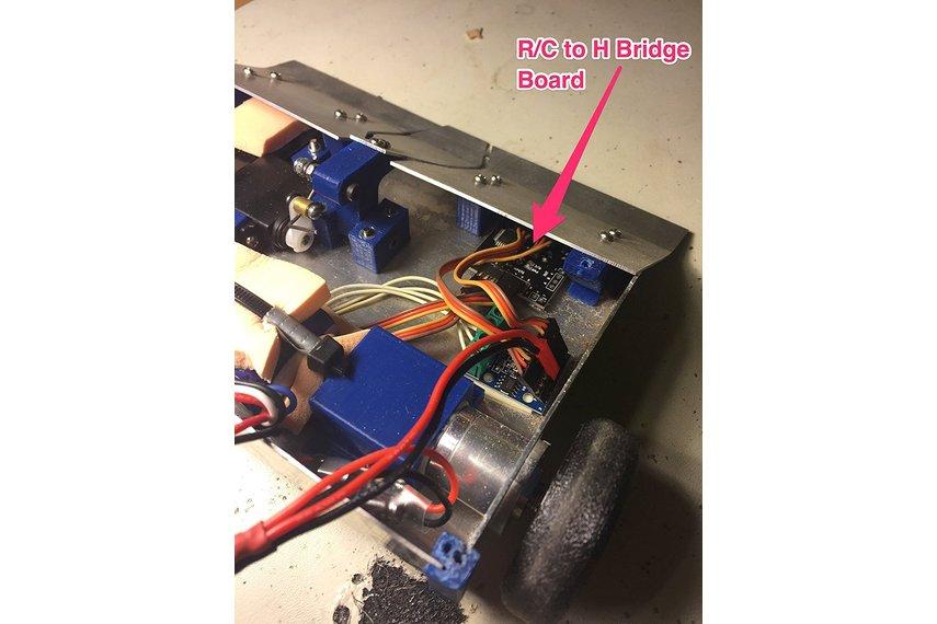 R/C to Dual H-Bridge Motor Controller