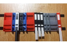 Interchangeable SMD tape holders for Pick & Place