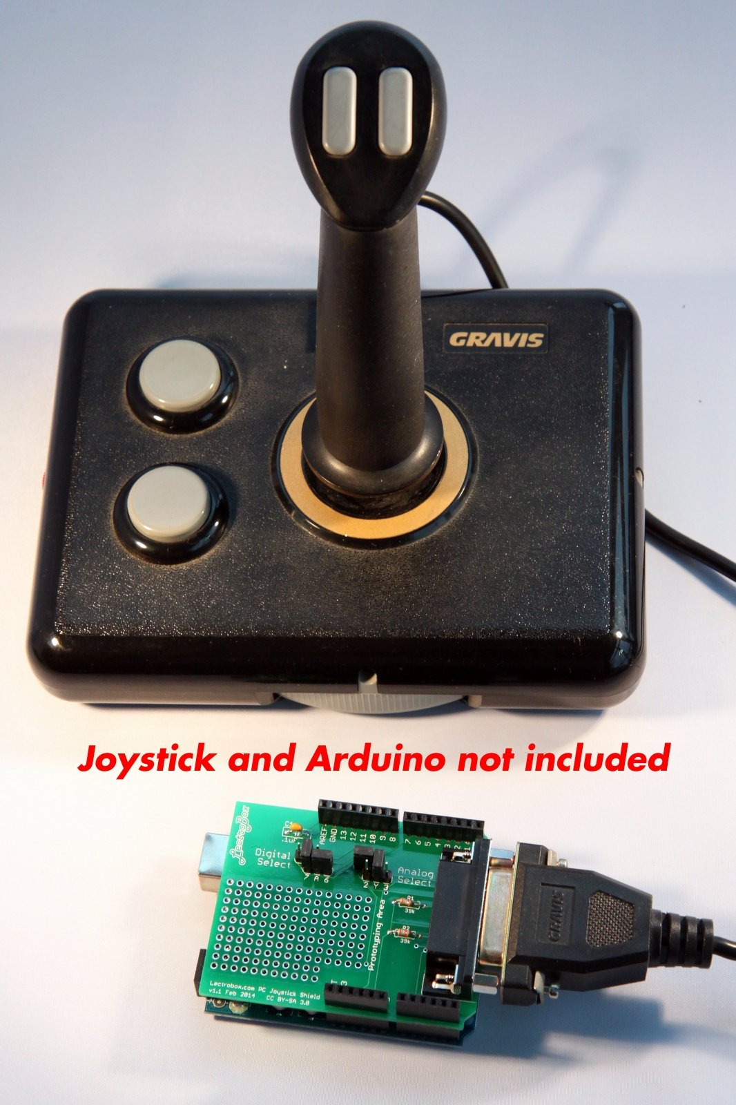 Arduino joystick shield for pc joysticks from lectrobox on