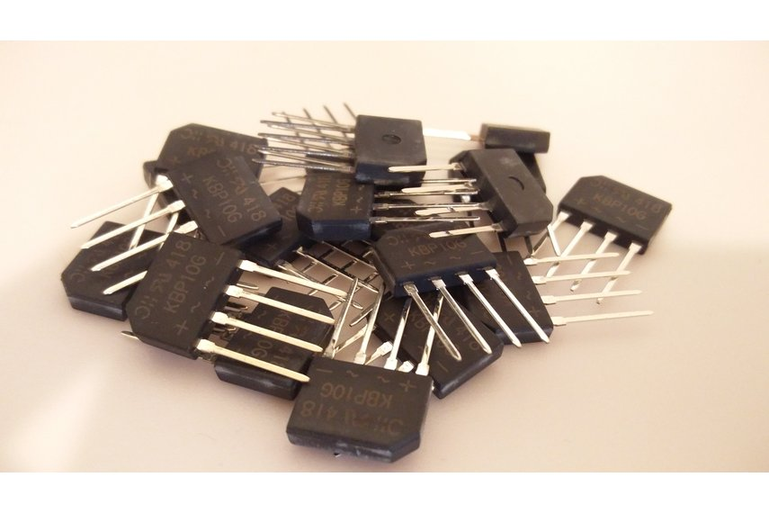 20PCS Diodes Incorporated KBP10G 1.5A Glass Passiv