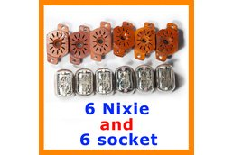 Nixie Clock Tubes IN-12B  set of 6 pcs + 6 sockets