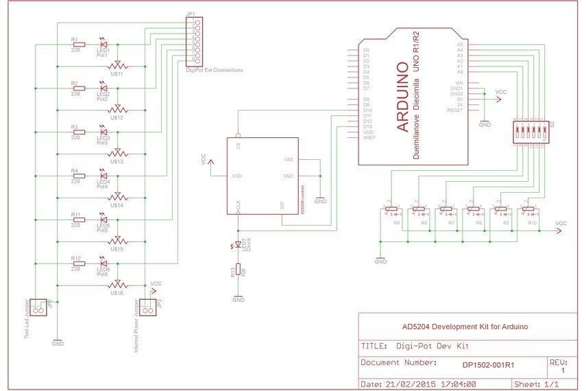 digital potentiometer arduino shield from alicemirror on