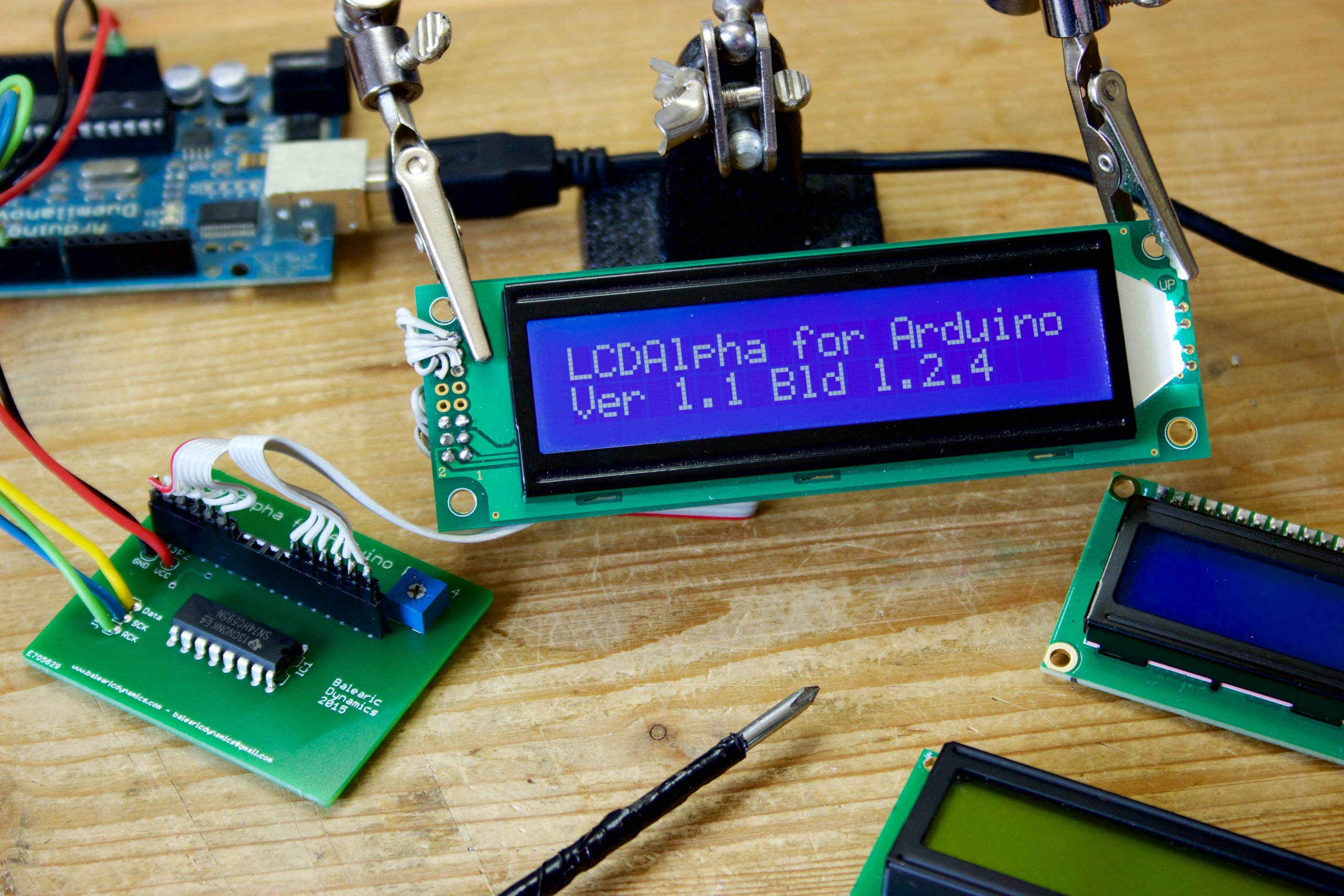 Alphanumeric lcd arduino kit from alicemirror on tindie